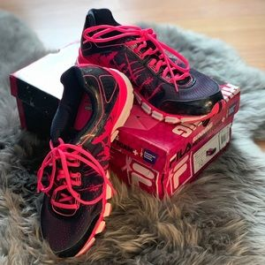 Fila Turbo Fuel Pink Navy White Running Sneakers